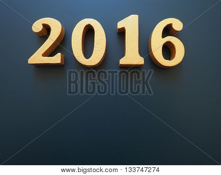 Year 2016 gold wood of 2016 number on black background Happy new year 2016 Happy New Year Background for new year festive greeting card