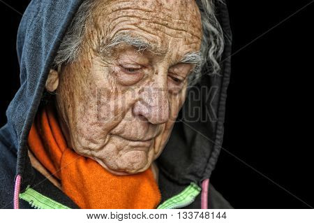 Nice portrait Image of a sad senior man