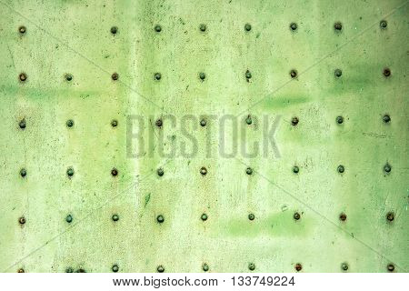 Old Faded Green Metal Background Texture