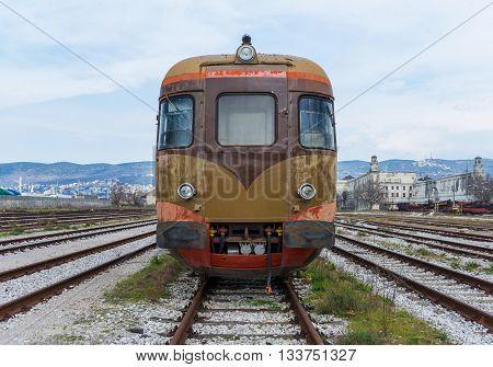 Trieste - circa March 2016, Friuli Venezia Giulia region, Italy: Old Electric train in Railroad Museum (Museo Ferroviario di Trieste)