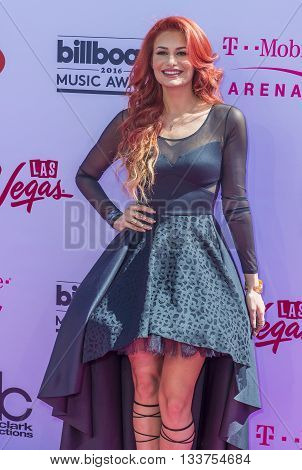 LAS VEGAS - MAY 22 : Singer Ola attends the 2016 Billboard Music Awards at T-Mobile Arena on May 22 2016 in Las Vegas Nevada.
