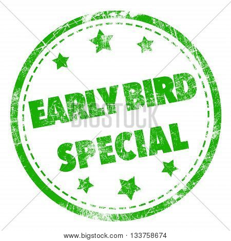 Early Bird Special stamp - for business