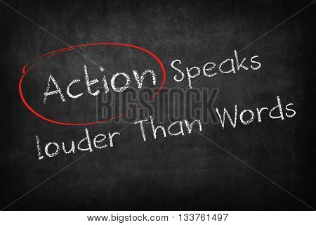 action speaks louder than words on Blackboard