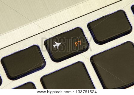 computer f7 key turn on off flight airplane safe mode metallic