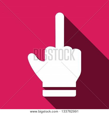 rude hand sign icon. Moddle finger icon. Flat symbol finger icon