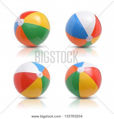 Beach ball set. Isolated on white background