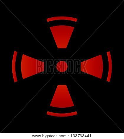 Crosshair reticle viewfinder target graphics  vector icon