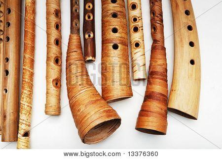 Ancient Woodwind Folk Instruments