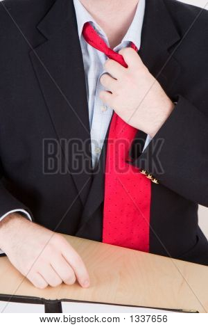 Loosening A Red Tie