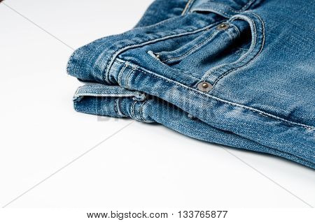 Division jeans wear jeans a white background.