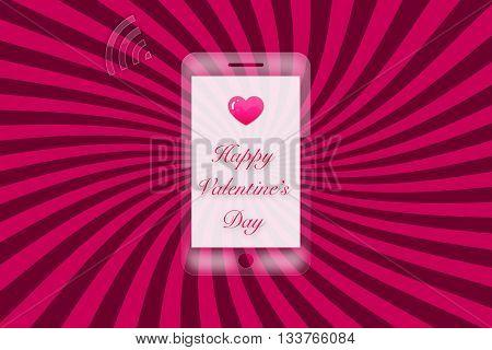 valentine's day word on pink star bust background