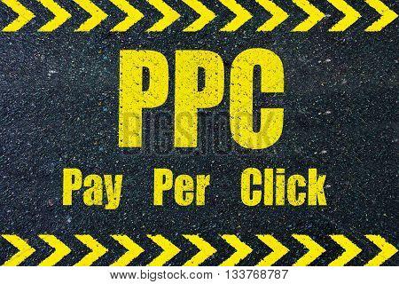 PPC Per Per CLick word on road