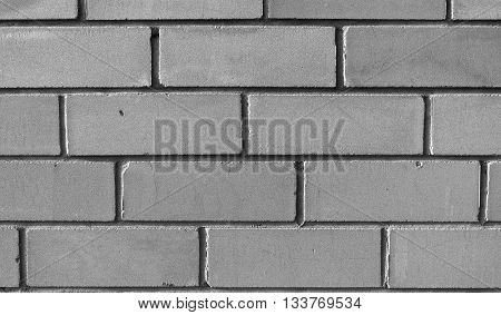 Wall from a white silicate brick, brick texture, background, pattern, black and white