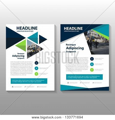Green Black Vector annual report Leaflet Brochure Flyer template design, book cover layout design, Abstract blue presentation templates
