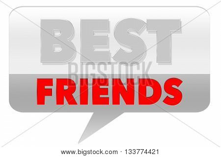 Best Friends sign - on grey background