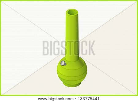 bong for smoking weed isometric flat vector 3d illustration