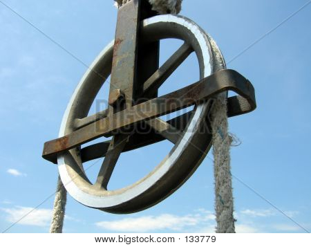 Pulley In Blue Sky