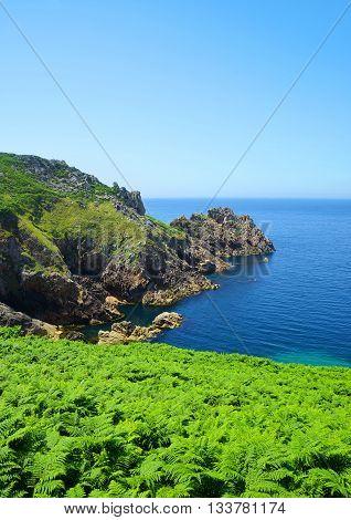 Atlantic Ocean coast at Pointe du Raz - Brittany, Northern France