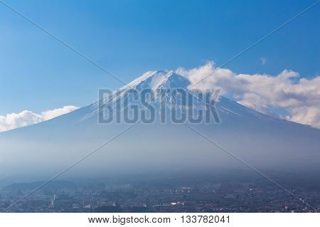 Fuji Mt. with clear blue sky natural landscape background, Japan