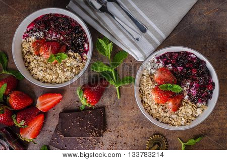 Granola With Berries And Chocolate