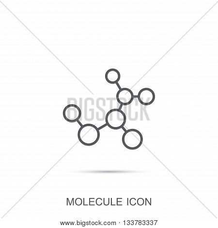 Molecule vector icon. Atom. Science and technology