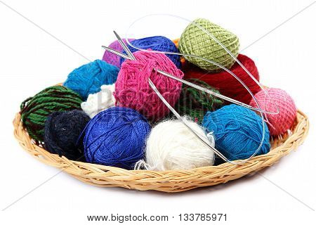 Colored threads isolated on the a  white background.