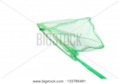 Green insect net isolated on a white background.