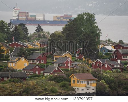 the City of oslo and the oslofiord in norway