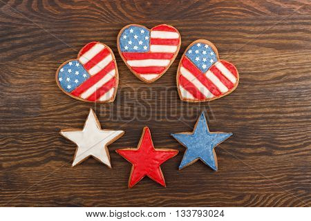 Cookies With American Patriotic Colors
