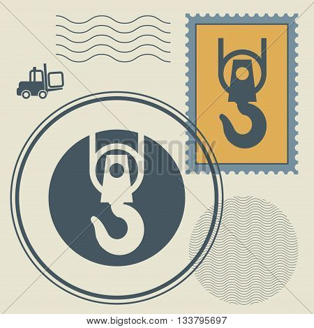 Abstract stamps or signs set, vector illustration