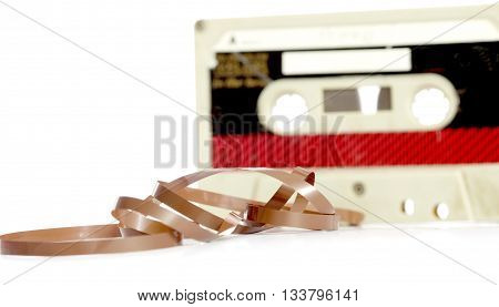 picture of a audio casette tape macro picture