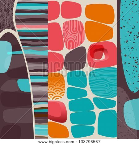 Abstract retro background, eps10 vector