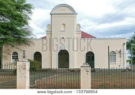 The town hall in Adendorp a village on the outskirts of Graaff Reinet in the Eastern Cape Karoo region.
