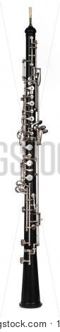 Oboe On White Background