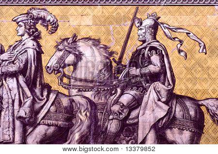 Frederik the Strict on Fürstenzug