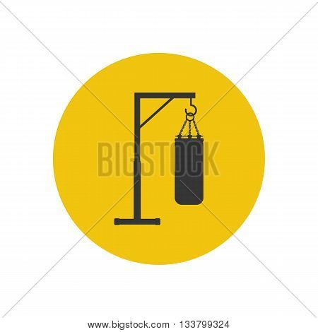 Punching bag icon isolated on white background. Vector illustration