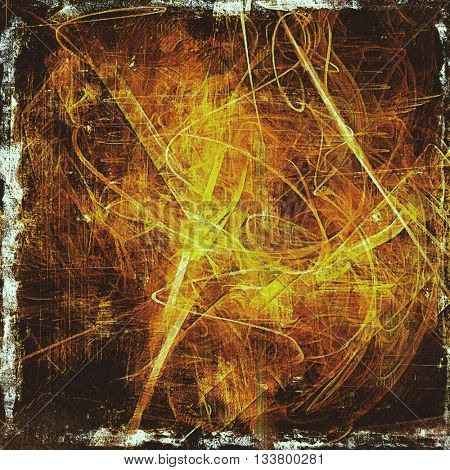 Abstract colorful background or backdrop with grunge texture and different color patterns: yellow (beige); brown; red (orange); black