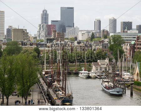 the City of Rotterdam in the netherlands