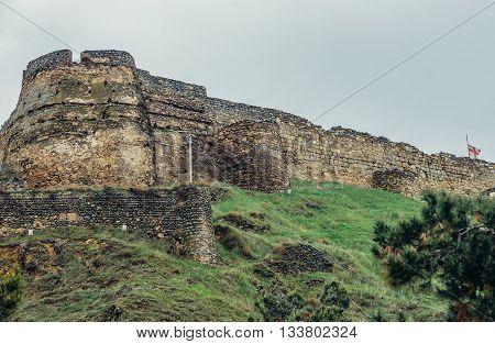 Gori Georgia - April 23 2015. View on medieval fortress in Gori city