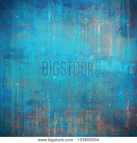 Old abstract texture used as shabby grungy background. With different color patterns: brown; blue; gray; cyan