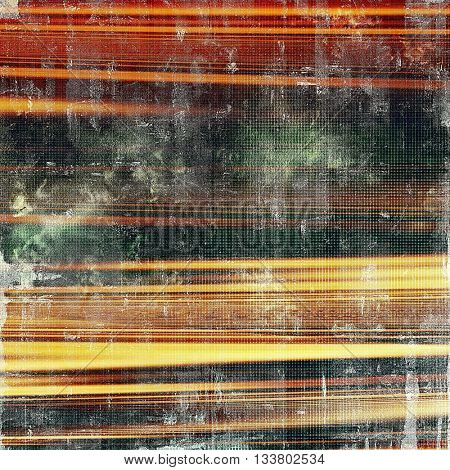 Old, grunge background or damaged texture in retro style. With different color patterns: yellow (beige); brown; green; red (orange); black
