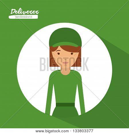 deliverer profession design, vector illustration eps10 graphic