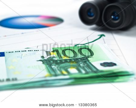 One Hundred Euros With Statistics