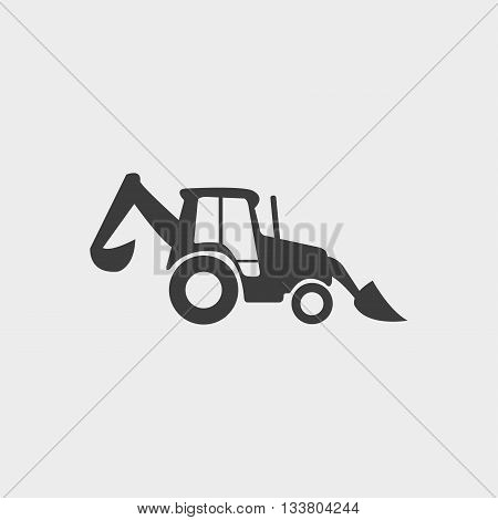 Loader icon in a flat design in black color. Vector illustration eps10