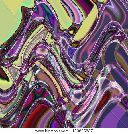 Abstract coloring greens gradients background with visual lens flare and wave effects