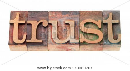 Trust Word In Wood Fonts