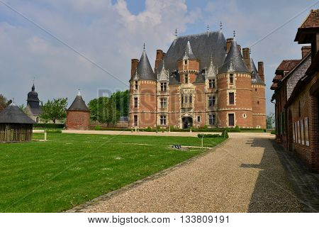 Martainville France - may 13 2016 : the historical castle of the 16 th century