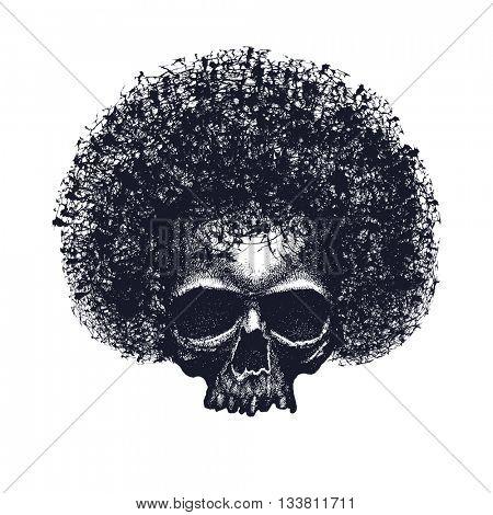 Skull reggae graphic design. Vector illustration