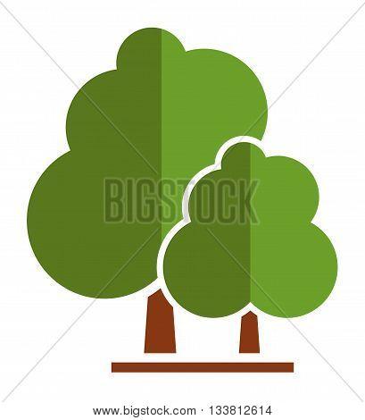 summer tree icon for parkland or garden symbol