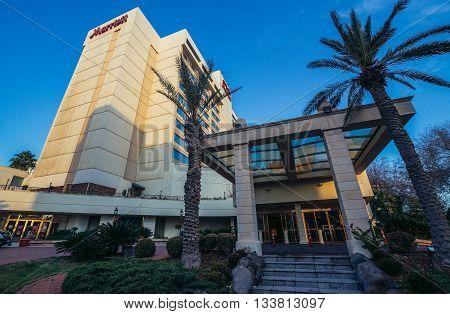 Amman Jordan - December 23 2015. View on Marriott Hotel in Amman